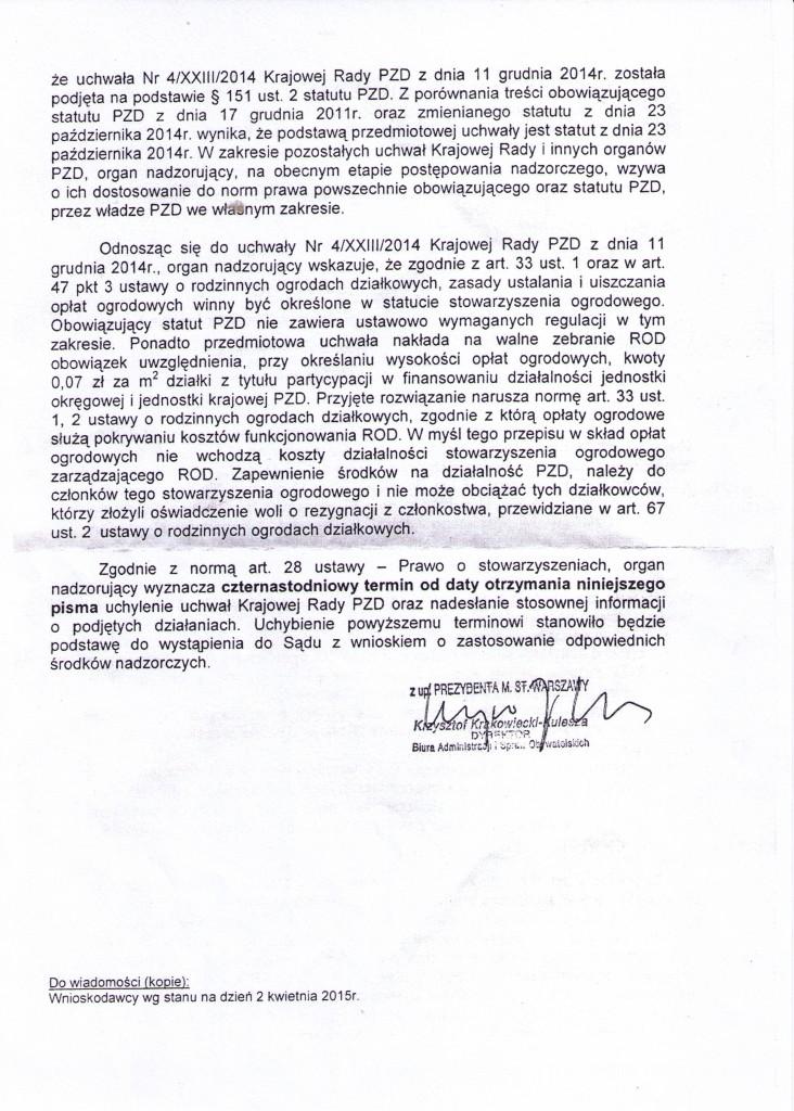 Urząd Miasta w Warszawie do _Krajowej Rady PZD (2)