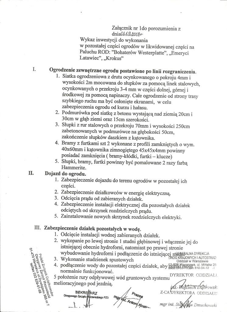 umowa GDDKiA załącznik nr 3